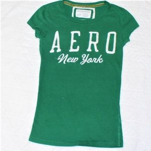 Aero New York Green T-shirt XS/TP